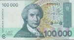 monedas de Europa - Croacia -  BILLETE 100000 (sto tisuca) HRVATSKIH DINARA - REPUBLIKA HRVATSKA