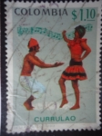 Stamps of the world : Colombia :  Folclor Colombiano: Baile del Currulao