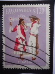 Stamps America - Colombia -  Cumbia - Folclor Colombiano: Baile de la Cumbia