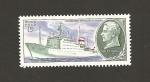 Sellos de Europa - Rusia -  Barco invesigación comandado por Mstislav Keldysh