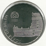 monedas de Europa - Portugal -  Torre de Betlem-Reverso