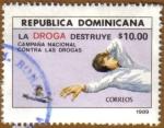 Stamps Dominican Republic -  La Droga destruye