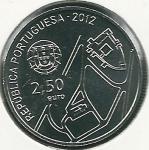 monedas de Europa - Portugal -  Centro histórico de Guimaraes-Anverso