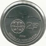 monedas de Europa - Portugal -  Centro histórico de Oporto-Anverso