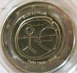 monedas del Mundo : Europa : Eslovenia :  ESLOVENIA 2€ EMU Desplazada