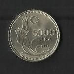 monedas de Asia - Turqu�a -  5.000 Lira./ reverso.
