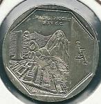 monedas del Mundo : America : Perú :  Machu Picchu-Anverso