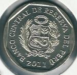 monedas del Mundo : America : Perú :  Machu Picchu-Reverso