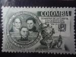 Sellos de America - Colombia -  Firmantes del Primer Comvenio Postal- UPU 1957