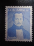 Stamps of the world : Colombia :  Francisco de Paula Santander(1792-1840) Bicentenario de nacimiento - El hombre de las Leyes (Pintura