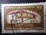 Sellos de America - Colombia -  Casa del Florero-Cuna de la República- Independencia Nacional 1810-1960