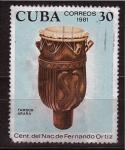 Sellos de America - Cuba -  cent. nac. f. ortiz