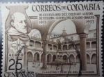 Stamps Colombia -  III Centenario del Colegio Mayor de Nuestra Señora del Rosario-Bogotá-1653-1953-¨Claustro y Estatua