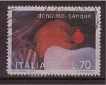 Sellos de Europa - Italia -  donación de sangre
