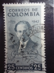 Stamps of the world : Colombia :  Poeta: Guillermo Valencia Castillo 1873-1943