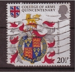Stamps United Kingdom -  quincentenario del colegio de armas