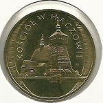 monedas del Mundo : Europa : Polonia :  La pequeña Polonia(iglesia Haczow)-Anverso