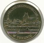 monedas del Mundo : Europa : Polonia :  Ciudad medieval de Torun-Anverso