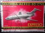 Sellos de America - Colombia -  Historia de la Aviación Colombiana- ¨Jet Boeing 727¨