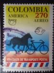Stamps Colombia -  Upaep América- Vehículos de Transporte Póstal