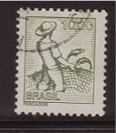Stamps Brazil -  pescador