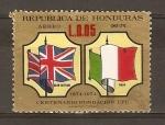 Sellos de America - Honduras -  BANDERA  DE  GRAN  BRETA�A   E   ITALIA