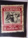 Sellos de America - Colombia -  Ganadería-Sobre Porte Aéreo - Scott/Colombia:RA9.
