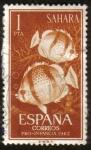 Stamps Spain -  SAHARA - Peces