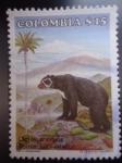 Stamps America - Colombia -  Oso de Anteojos - tremarctos ornatus.