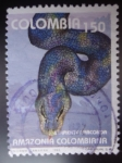 Stamps of the world : Colombia :  Serpiente Anaconda-Amazonía Colombiana
