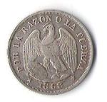 monedas de America - Chile -  ESCUDO Y CONDOR - POR LA RAZON O LA FUERZA