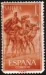 sellos de Europa - España -  SAHARA - Camellos