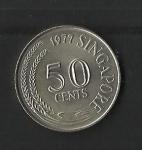 monedas de Asia - Singapur -  Pez zebra / reverso