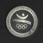 monedas de Europa - España -  Barcelona 92 / Emblema / anverso
