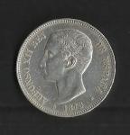 monedas de Europa - España -  Alfonso XII / anverso / 1875