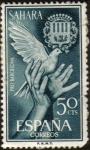 sellos de Europa - España -  SAHARA - Manos y escudo