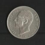 monedas de Europa - España -  Alfonso XII / anverso / 1883