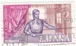 Stamps Spain -  XIV Congreso Mundial de Sastreria-1970      (Q)