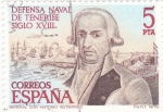 Stamps Spain -  Defensa Naval de Tenerife Siglo XVIII       (Q)
