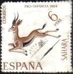 sellos de Europa - España -  SAHARA - GACELA