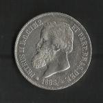 monedas de America - Brasil -  Pedro II / anverso./ 1888