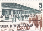 Sellos de Europa - España -  UTILICE TRANSPORTES COLECTIVOS   (Q)