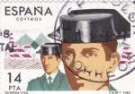 Sellos de Europa - España -  CUERPOS DE SEGURIDAD DEL ESTADO- Guardia Civil   (Q)