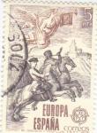 Sellos de Europa - España -  EUROPA CEPT-1979  Correo de Gabinete y Postillón     (Q)