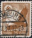 Stamps : Europe : Germany :  AGUILA, GLOBO TERRÁQUEO Y CRUZ GAMADA. Y&T Nº A47