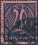 Stamps : Europe : Germany :  CIFRAS 1922-23. Y&T Nº S34