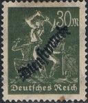 Stamps : Europe : Germany :  OFICIOS 1921-23 SOBRECARGADOS. Y&T Nº S49