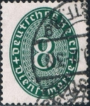 Stamps : Europe : Germany :  CIFRAS 1927-28. Y&T Nº S79
