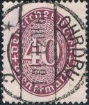 Stamps : Europe : Germany :  CIFRAS 1927-28. Y&T Nº S84