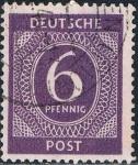Stamps : Europe : Germany :  OCUPACIÓN INTERALIADA. CIFRAS 1946. Y&T Nº AAS6